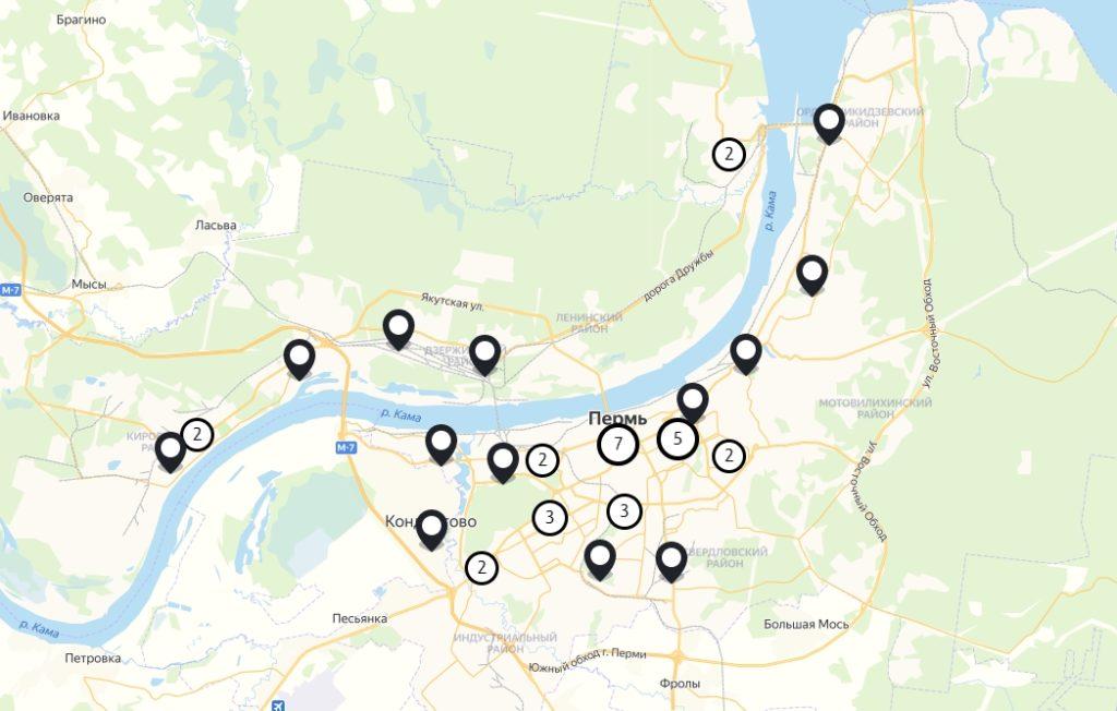 Офис Tele2 в Перми — адреса на карте