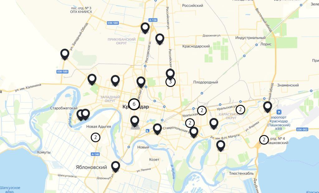 Офис Tele2 в Краснодар — адреса на карте